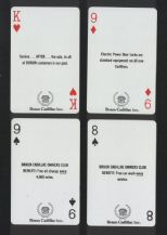 Collectible Advertising Non-standard playing cards. Braun Cadillac